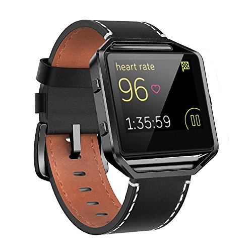 Blaze Mens (Andyou for Fitbit Blaze Bands Leather with Frame Small Large (5