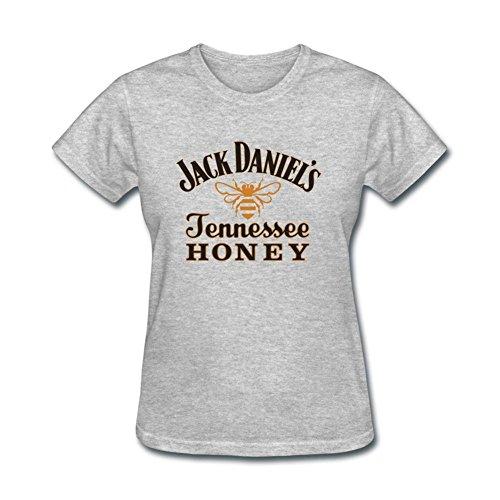 JUDIAN Jack Daniels Tennessee Honey Logo T Shirt for Women (Jack Daniels Tennessee Sour Mash Whiskey With Honey)