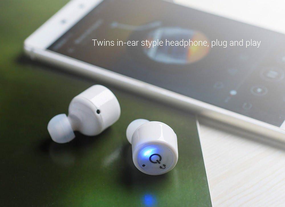 Mini auriculares gemelos invisibles iRoundy X1T, inalámbricos, con bluetooth V4.2, estéreo de sonido envolvente y micrófono, para iPhone 7/6S, Samsung, Android, iOS