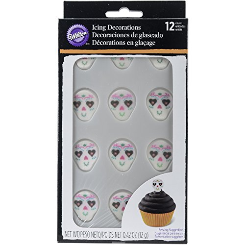 Wilton 710-6030 Deadly Soiree Royal Icing Decoration, (Halloween Treats No Bake)