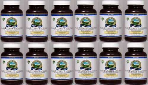 Naturessunshine Витамин Е В комплекте с Селен 400 МЕ Поддержка системы кровообращения 200 мягких капсул (в упаковке 12)