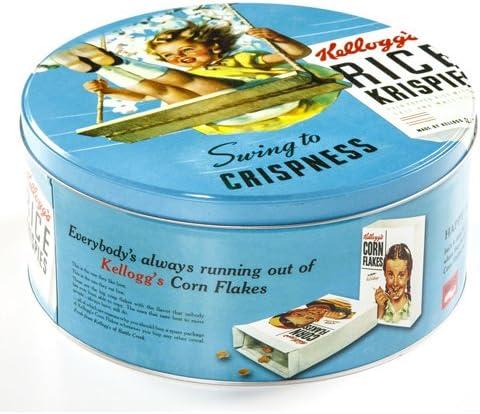 Caja de galletas Kellogs – Metal Estilo Retro – azul: Amazon.es: Hogar
