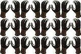 Atlas Fit 370 Showa Black X-Large XL Nitrile Gardening Work Gloves, 12-Pairs