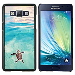 Dragon Case - FOR Samsung Galaxy A5 A5000 A5009 - tortoise turtle baby watercolor sea - Caja protectora de pl??stico duro de la cubierta Dise?¡Ào Slim Fit