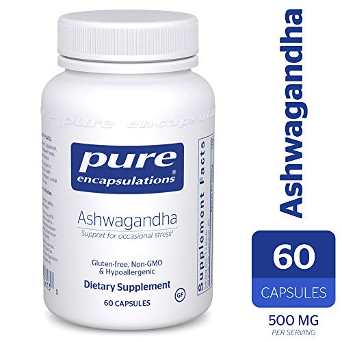 Ashwagandha 60 Capsules - Pure Encapsulations - Ashwagandha - Supports Cardiovascular, Immune, Cognitive, and Joint Function and Helps Moderate Occasional Stress* - 60 Capsules