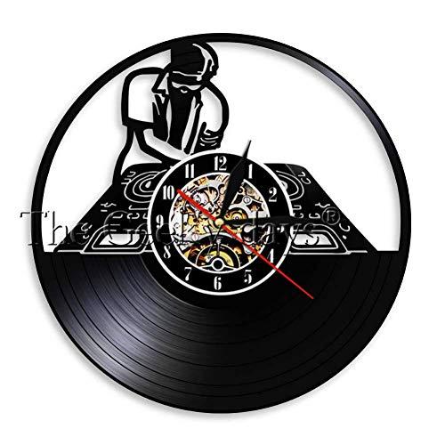 Record Player Mixer DJ Reloj de Pared Deejay Spinning Scratching ...
