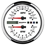AutoMeter 19467 Pro-Cycle Tach/Speedo Kit 4-1/2 in. White Dial Face Fluorescent Red Pointer White LED Lighting Air Core 8K RPM/120 MPH Pro-Cycle Tach/Speedo Kit