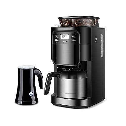 JJSP Cafetera Americana Cafetera automática para el hogar máquina de café Polvo de Frijoles de Doble