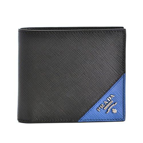 PRADA(プラダ) メンズ 財布 サフィアーノ saffiano 二つ折り財布 2MO738 QME 14B [並行輸入品] B0787TMFH3