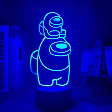 3D Among Us Game Model Lamp Touch//Remote LED Night Light Table Bedside Lamp Gift