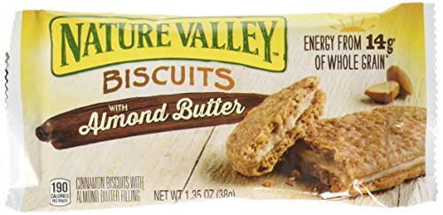 Almond Cinnamon Cookies (Nature Valley Sandwich Biscuit with Almond Butter (30 count), 1.35 oz/pouch)