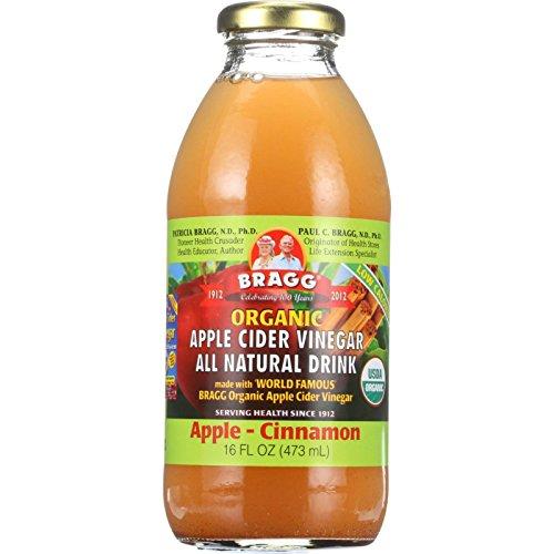 Bragg Apple Cider Vinegar Drink - Organic - Apple-Cinnamon - 16 oz - case of 12 - All Natural - Gluten Free by Bragg