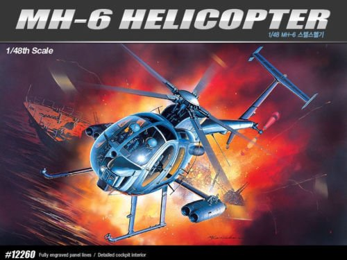 Academy 1/48 Plstic Model Kit MH-6 Stealth Helicopter 12260 NIB