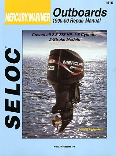 Sierra International Seloc Manual 18-01416 Mercury/Mariner Outboards Repair 1990-2000 2.5-275 HP 1-6 Cylinder 2 Stroke Model ()