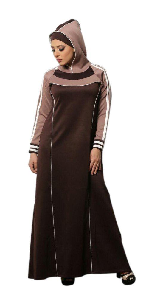 Teba Muslim Women's Dress Water Proof Sporty Thick Material Abaya Islamic (Code 1001)