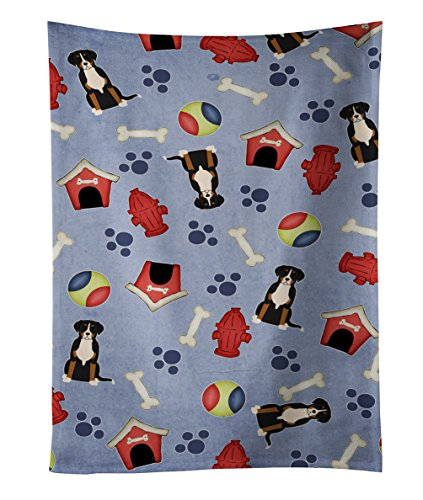 "Caroline's Treasures BB2650KTWL Greater Swiss Mountain Dog Kitchen Towel, 25"" x 15"", Multicolor"