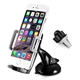 3 in 1 Universal Mobile Phone car holder 360 degree rotation Dashboard, Air Vent and Windscreen Car Holder / Mount Cradle / Works on Dashboard / Air Vent and Windscreen, Car Mount Holder Cradle for iPhone, Samsung, Google, HTC, Motorola, Nokia, LG and other smartphones (car holder) -pjp electronics®