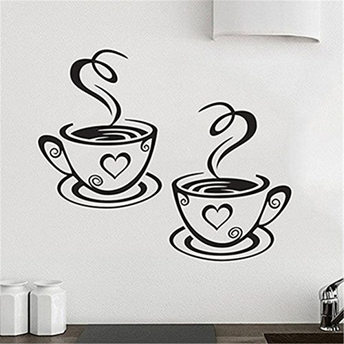 dds5391 Home Kitchen Restaurant Cafe Tea Wall Sticker Coffee Cups Sticker Wall Decor by dds5391 (Image #4)