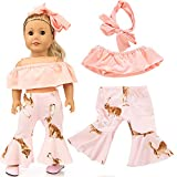 Doll Accessories,Doll Baby Clothes Pants Suit Costume for 18 inch Our Generation American Girl Doll Christmas Gifts