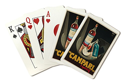 Italy - Campari - l'aperitif - (artist: Nizzoli c. 1926) - Vintage Advertisement (Playing Card Deck - 52 Card Poker Size with Jokers)