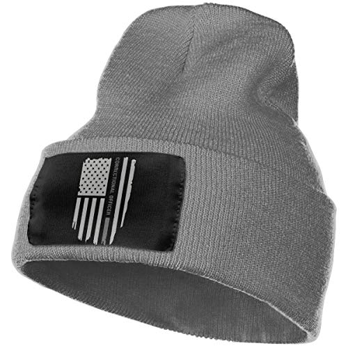 Cgi04T-5 Daily Knit Cap Unisex, 100% Acrylic Acid Thin Silver Line Correctional Officer Stocking Cap