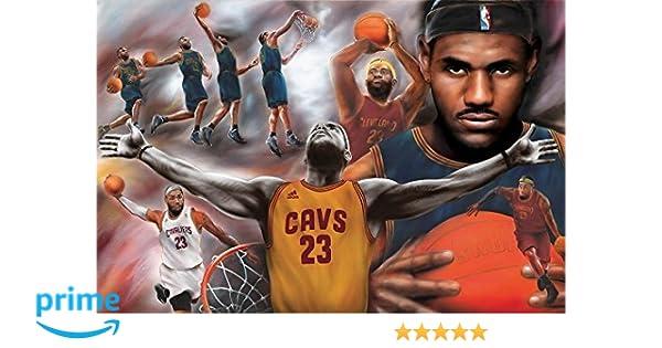88b5659152afc Buyartforless Lebron James - Collage Open Arms 36x24 Sports Art Print  Poster Superstar Legend