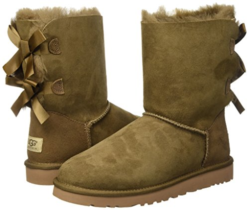 Ankle Leaf Bailey Brown Bow Australia dry Women's Boots Ugg pqSBT