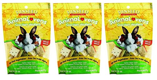 Vitakraft Rat - Sunseed Sunthing Special Animal Lovens Natural Treat Garden Wafers - Pack of 3, 3.5 Oz. Ea.