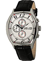 Invicta Mens 14329 Specialty Tonneau Watch with 3 Textured Leather Strap Set