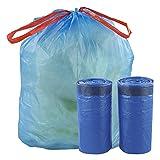 Fiaze 30 Gallon Drawstring Trash Bags, 70 Counts (Blue)