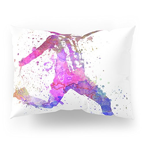 Society6 Girl Playing Soccer Football Player Silhouette Pillow Sham Standard (20'' x 26'') Set of 2 by Society6