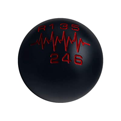 DEWHEL Sphere Shift Knob 6 Speed Heartbeat SR LITE 200 Gram Weighted Aluminum Short Throw Shifter Reverse Left M12x1.25 M10x1.5 M10x1.25 M8x1.25 Black: Automotive