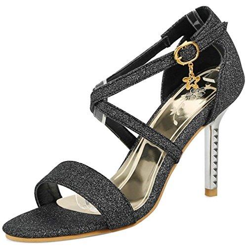 Coolcept Women Evening Sandals Stiletto Heel Black IRcB0