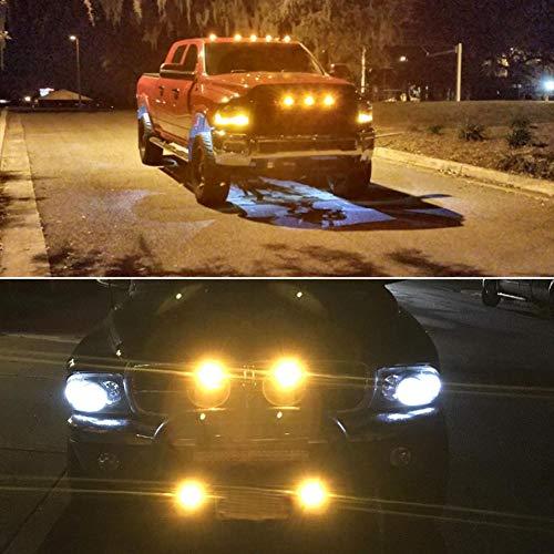 20Pcs White Eagle Eye 18mm 9W Motor Car Tail Brake Turn Signal FOG DRL LED Light