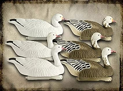Final Approach Last Pass High Definition Snow Goose Floating Decoy, 4 Pack