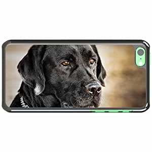 iPhone 5C Black Hardshell Case dog muzzle collar dog Desin Images Protector Back Cover