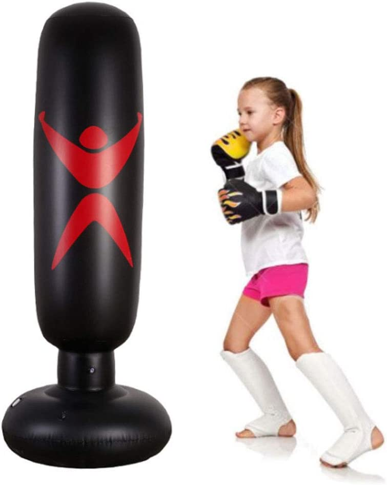 KY Punching Sac de Boxe Debout Libre Sacs de Boxe Robustes pour Cible//Excellent factice pour la Boxe//Kick Boxing//Mat/ériel de Formation pour Arts Martiaux Mixtes//MMA