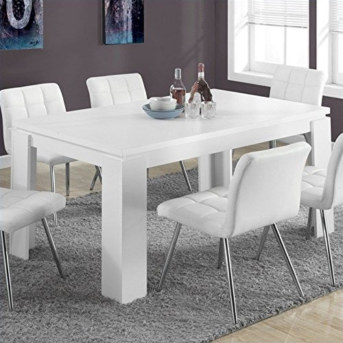 Monarch Specialties I 1056, Dining Table, White Hollow-Core, 60''L by Monarch Specialties