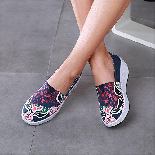 Flat Shake Guida Primavera Sneakers Slip Un Fitness Mocassini Shaking Platform Maglie Athletic Walking guida Casual Autunno Donna Da Shoes Loafers E Scarpe Pzgq6wBfW