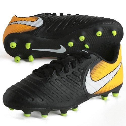 f4d60e8f48f6f3 Galleon - NIKE Kids Jr. Tiempo Rio IV (FG) Firm Ground Soccer Cleat  Black White Laser Orange Volt Size 2 M US
