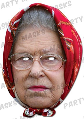 Official Mask-arade Mask - Queen Elizabeth II - With Headscarf ()