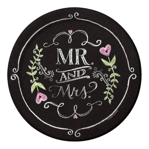 Creative-Converting-8-Count-Mr-and-Mrs-Chalk-Luncheon-Paper-Plates