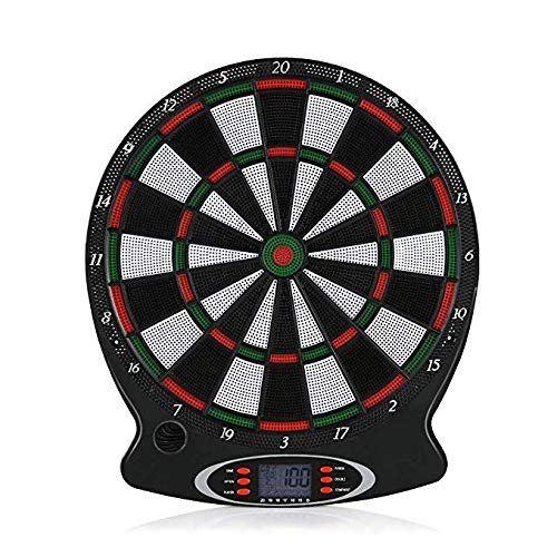 Abvenc Electronic Dartboard with LCD Scoring Displays (High quality score display screen, Plastic dart clips, 6 target darts) (8/10)