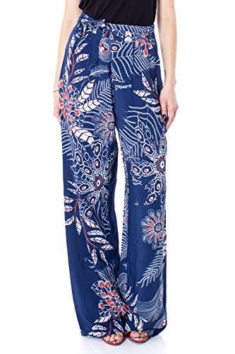 Desigual Femme Pantalon Pant 19swpw25 Blue Sandalo wOPXZk80Nn