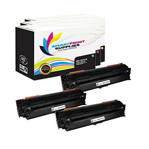 Smart Print Supplies Compatible 307A Toner Cartridge Replacement for HP Laserjet CP5225DN CP5225N Printers (CE741A Cyan, CE742A Magenta, CE743A Yellow) - 3 Pack