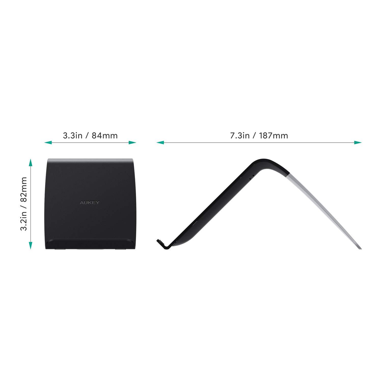 AUKEY Cargador inalámbrico de 10 W, Base de Carga rápida Compatible con Qi inalámbrica, Compatible con iPhone XS/XS MAX/XR/X/8, Samsung Galaxy ...