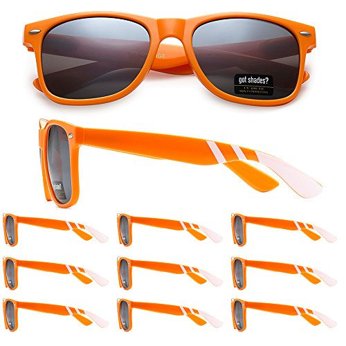 Orange Sunglasses Bulk - WHOLESALE RETRO BULK LOT TEAM SPIRIT