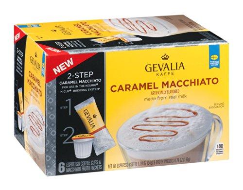 Gevalia Kaffe 2-Step Espresso Coffee Cups & Froth Packets Caramel Macchiato 5.98 OZ (Pack of 18)