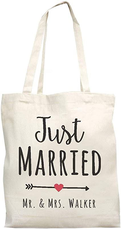Personalized Item 1602N Cotton Drawstring Backpack Tote Bag Wedding Welcome Bag