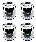 Moto Metal Set (4pcs) Chrome Center Hub Caps Push-Thru 5 3/8'' for 8 Lug MO950 MO951 MO954 RIms